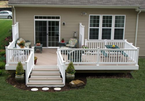 Charming-Deck-With-Floral-Chairs-Ideas-in-Mobile-Home-Patio-Ideas